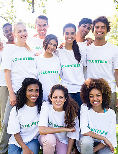 Young volunteers